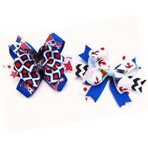 Two hair bows